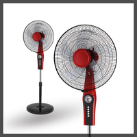 ABS material 16 inch 220V 135 degrees oscillating high velocity pedestal fans