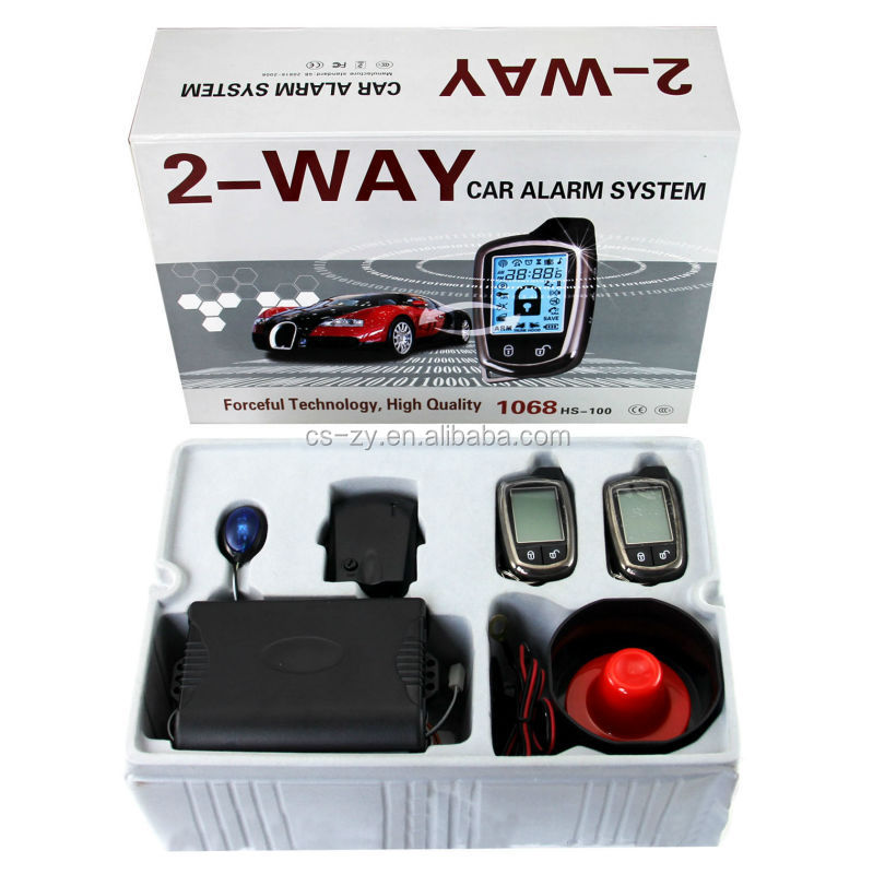 2way lcd motorcycle anti-theft security alarm system remote control engine start