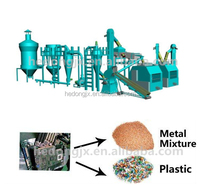 Convenient maintenance plastic and aluminum recycling and separating production line