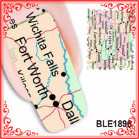 BLE1159-1169 Promotion Price Nail Design DIY Post Stamp Nail Water Decals