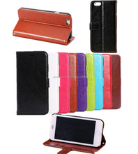 Folio leather case with inside plastic holder for iPhone 6 plus, Case for iPhone 6 plus