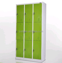 Cheap wardrobe cabinets/9 door metal locker/bedroom hanging cabinet design