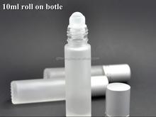 10 ml Roll On botella <span class=keywords><strong>de</strong></span> <span class=keywords><strong>vidrio</strong></span> esmerilado recargables botella Roller Perfume cristal vacía / aceites esenciales viales