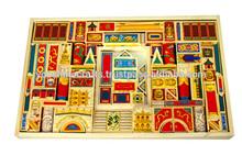Noble de madera real de ladrillos del juguete, juguete bloque de construcción, juguete de la construcción de ladrillos