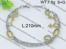 Musical note gold bracelet design for girls