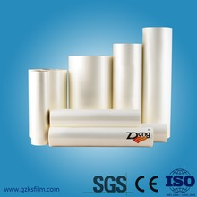 SGS certified translucent plastic thermal lamination film from Factory directly