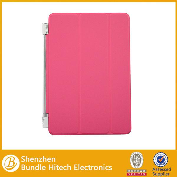 3 vezes Smart Cover para ipad mini 2, Para ipad mini estojo de couro
