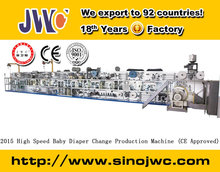 2015 High Speed Baby Diaper Change Production Machine (CE Approved)