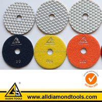 10PCS 4'' 50# Angle Grinder Flexible Resin Dry Tile Polishing Pads