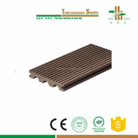2015 new design wood polymer material wpc decking flooring