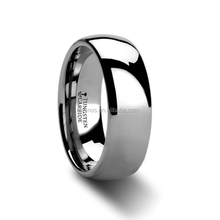 2015 New Stainless Steel Ring Men's Classic Stainless Steel Wedding Ring With Satin Finish Dome in 8mm