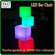 waterproof plastic led cube outdoor furniture hot sale led cube table hot sale led cube table