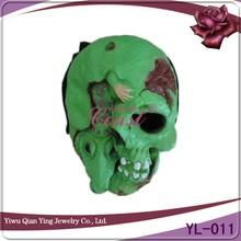 green weird latex ghost skull face halloween mask