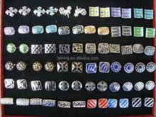 Customized low price cheap customized shield cufflinks