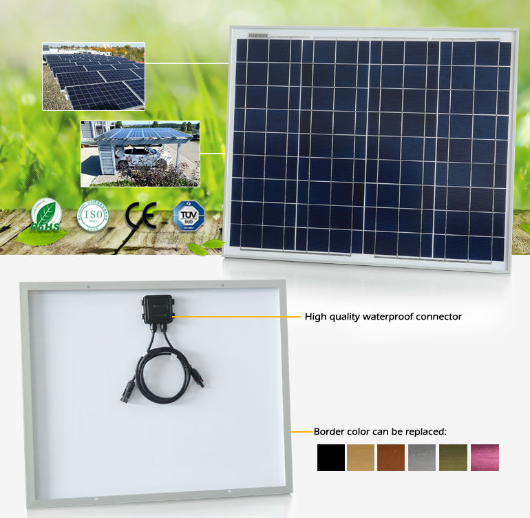 Poly solar cell panel price with German Bosch solar cells