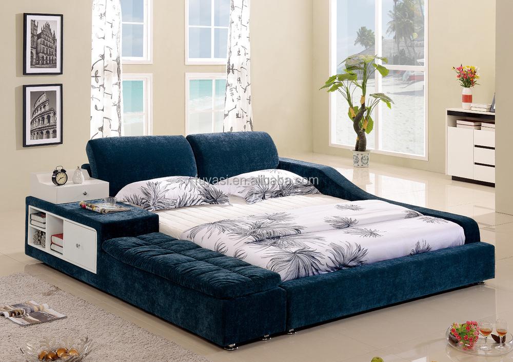 tiroir lit moderne meubles de chambre coucher king size lit table de nuit table de - Chambre A Coucher Lit King Size