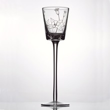 Hand blown wholesale long-stemmed glass candle holder