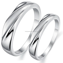 New Arrival simple style 18k white gold plated Couple Rings emerald rings for women wedding bands jewelry for couplnds dj904