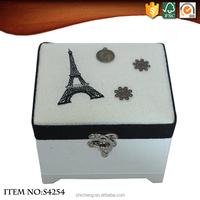 Nice Paris Pattern Fabric Jewelry Box