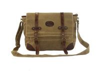 Fashionable style vintage waxed canvas shoulder bag wholesale small orders China