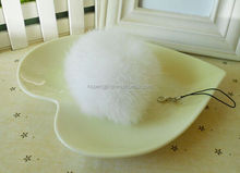 for cell phone hand bag hat/ key chains fur pom poms /pom poms balls for keychain /bag/China wholesale rabbit fur ball