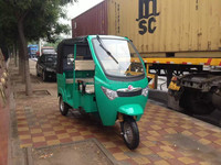 Electric auto rickshaw with three wheel for passenger use
