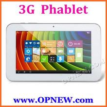 "7"" Quad Core 3G Phone Call dual Sim slot Phablet Tablet PC MTK6582 Android 4.4 KitKAT WIFI Bluetooth FM GPS"