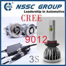 NSSC Car Lamp 3S 9012 LED Headlight with two LED,9-32v 4500lm Car LED Headlight
