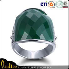 Top selling personalized design fashion large gemstone ring, high qualtiy women gemstone ring