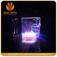 Flashing Novelty Colorful Party Plastic Flashing Led Skull Cup