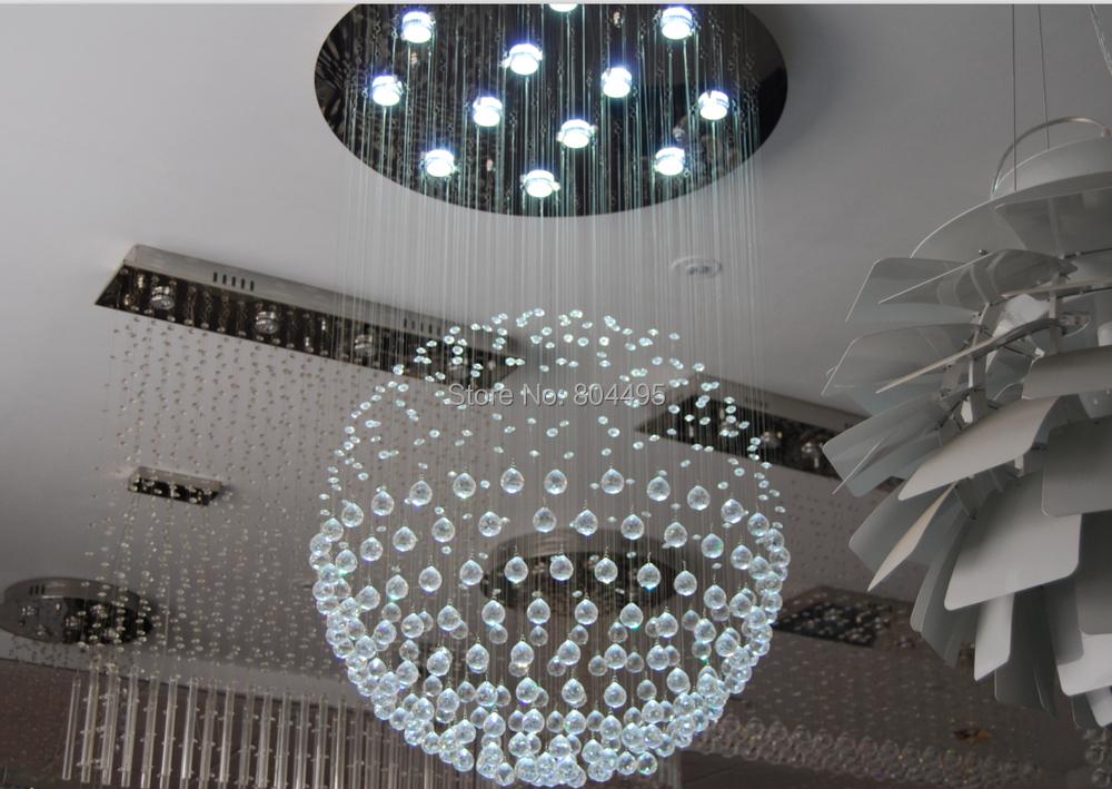 Moderna l mpara de ara a cristal luz lustres para l mpara for Lamparas de techo de diseno