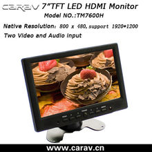2013 New Energy saving 800*600 H-IPS VGA+DVI+HDMI+AV 7 inch vga hdmi touchscreen monitor