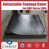 High Quality Aluminum Black Retractable Tonneau Cover for Pick Up GMC Sierra 1500