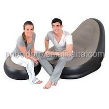 NEW DELUXE LOUNGER POD INFLATABLE SUN SOFA CAMPING RELAX CHAIR FOOT REST STOOL