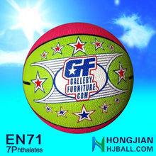 2015 color rubber basketball promotional 5 for sale