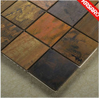 Golden Select Mosaic Wall Tile,Antique Copper Mosaic Tile,Hot-sales in Turkish Mosaic Tile