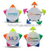 5 in 1 combo highlighter pens/cheap highlighter/promotional/Five-pointed star highlighter