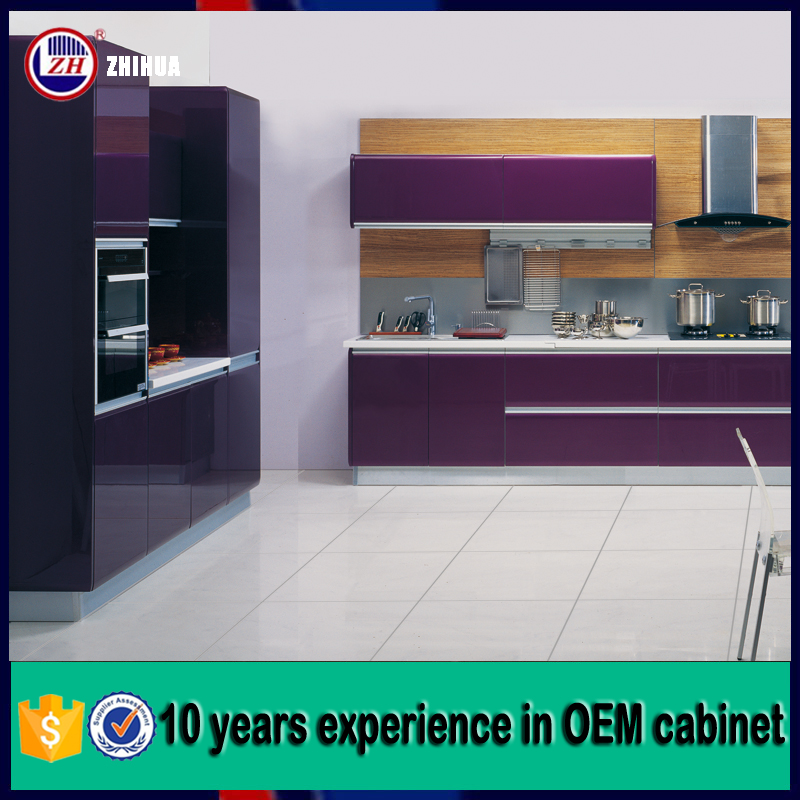 Free Cad Design Purple Kitchen Cainets Shaker