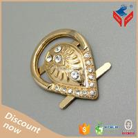 Fujian produced guangdong Gold rhinestone metal rhinestone shoe buckles for lady