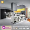 2015 modern black mdf model kitchen cabinet design with precut granite countertops