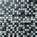 Blanco y negro hielo crack mosaico de vidrio para el diseño de mosaico pared