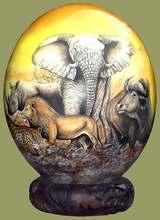 Ostrich Egg Big %Decoupage