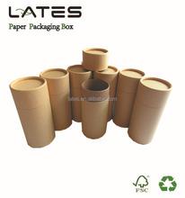 Eco mateial Kraft tube box , Cylinder kraft paper boxes , Round gift box