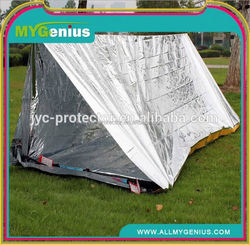 Waterproof Sliver Mylar Thermal Emergency shelter for Camping tent