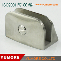 304 stainless steel glass to wall hydraulic arc-shaped bathroom glass connector clamp