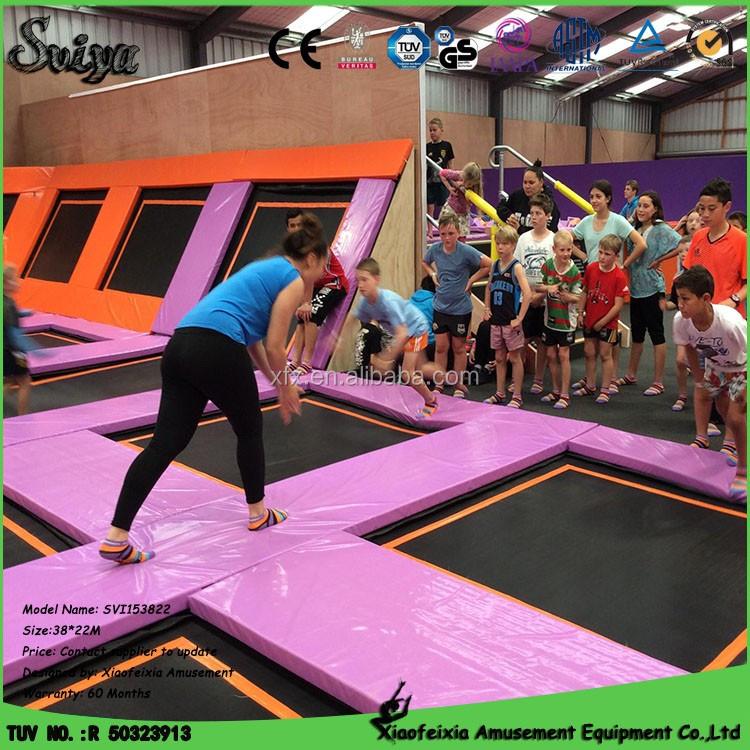 Foam Pit Pool With Indoor Gymnastics Trampoline Park