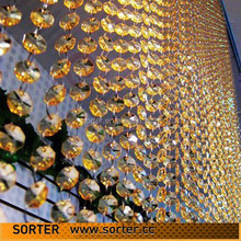 beautiful crystal bead curatin for room/hotel/meeting room decoration