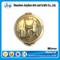 vintage style scenery landscape embossed cosmetic mirrors
