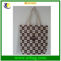 eco full print sublimation cotton shopping tote bag