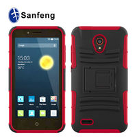 Heavy Duty Belt Clip Hard PC+ Silicone Case For Alcatel One Touch Conquest 7046T Cell Phone Cover